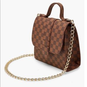 Checkered bag new with tags